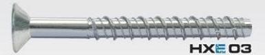 HXE03 concrete screw with countersunk head
